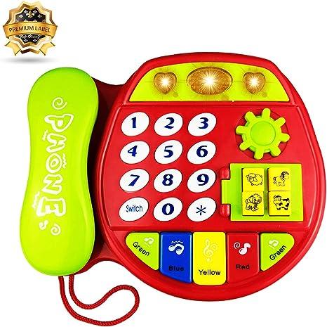 Yita Telefono Giocattolo Regalo per Bambini da 1 a 3 Anni