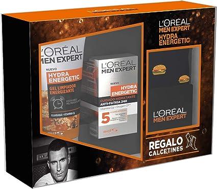 LOréal Men Expert Hydra Energetic Pack con Gel Limpiador Energizante para Hombres 100 ml y Crema Hidratante Antifatiga 24h para Hombres 50 ml: Amazon.es: Belleza