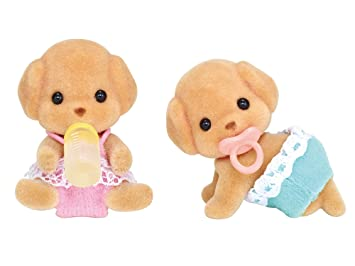 Amazon.es: Twins of Sylvanian Families doll toy poodle ...