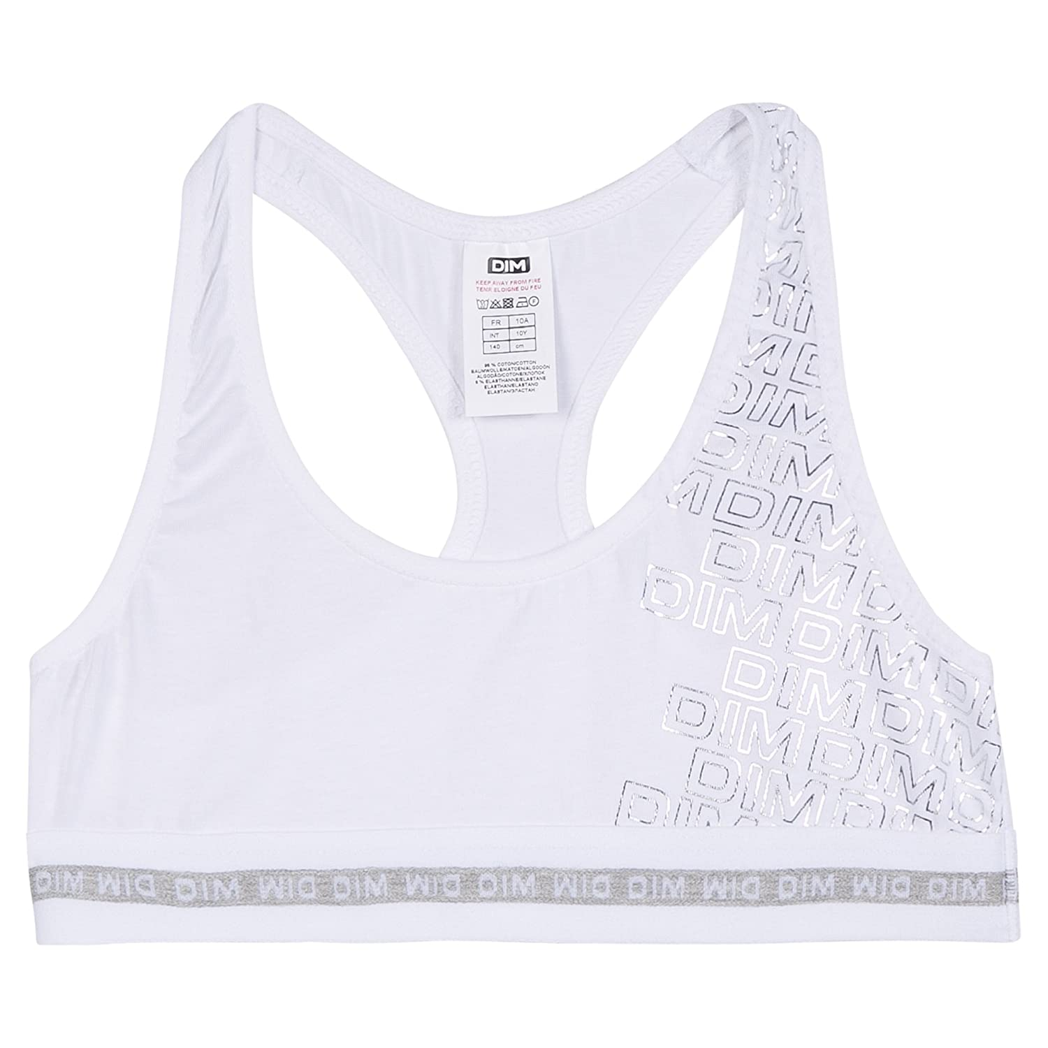 DIM Girl's Everyday Bra White (Blanc 01) 16 Years (Size: 16A) 6L63000-RA
