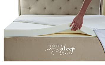 Amazon Com Nature S Sleep Cool Iq Twin Size 2 5 Inch Thick 3 5