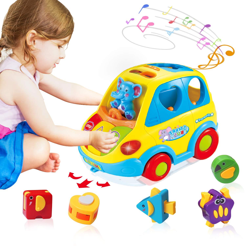 ACTRINIC Baby Spielzeug 6-18 Monate,Musikbus für Früherziehung ...