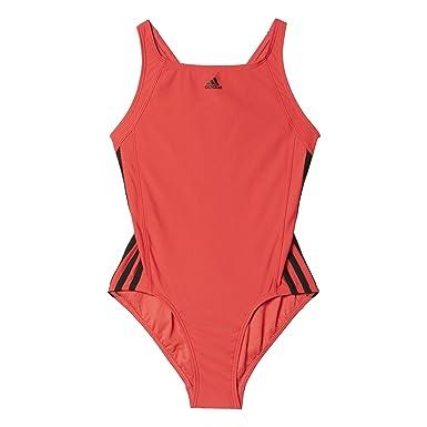 adidas Mädchen Infinitex Essence Core 3 Streifen Badeanzug