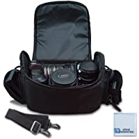 Large Digital Camera/Video Padded Carrying Bag/Case for Nikon, Sony, Pentax, Olympus Panasonic, Samsung, and Canon DSLR…