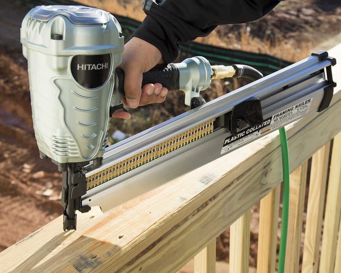 Hitachi NR90AES1 2-Inch to 3-1/2-Inch Plastic Collated Framing Nailer by Hitachi
