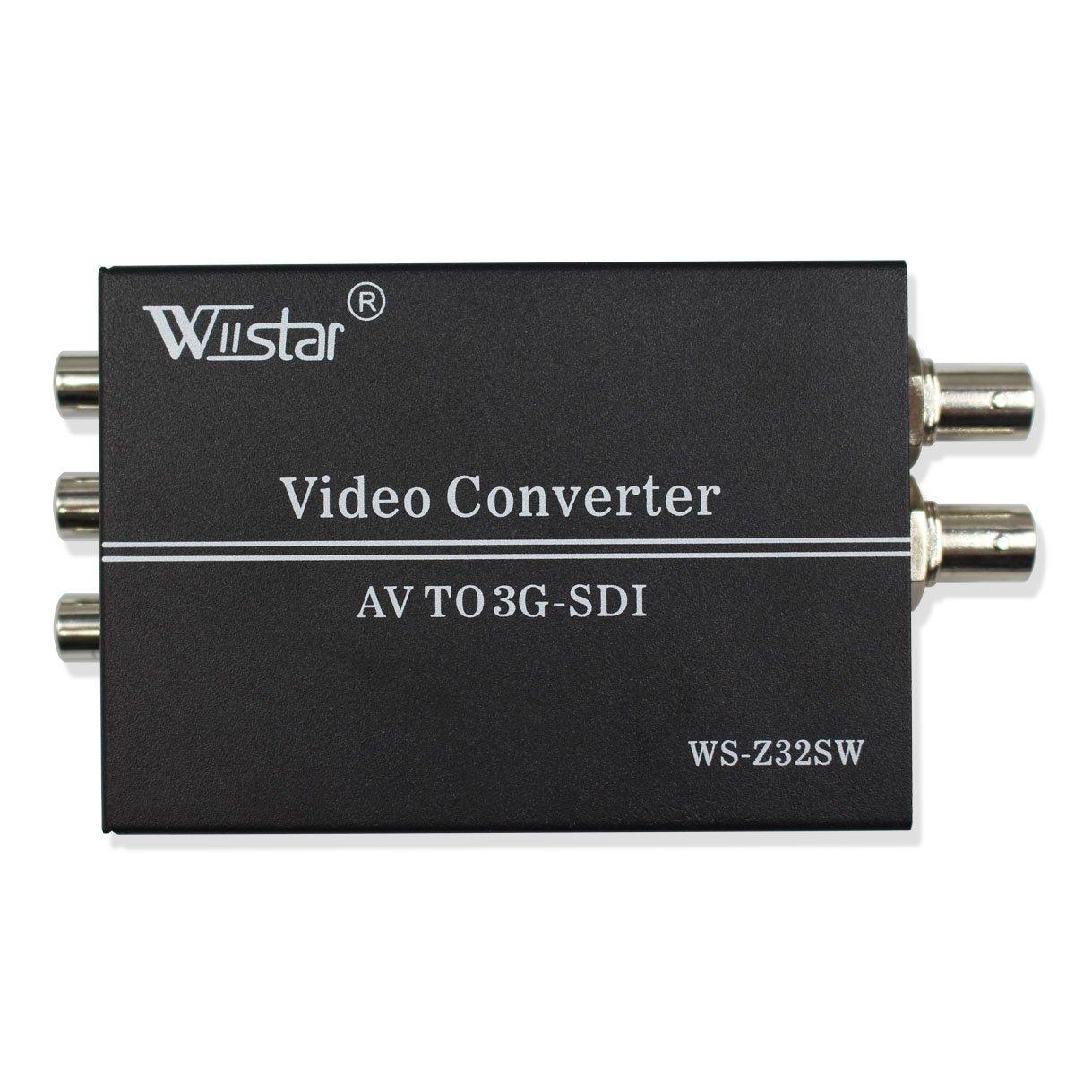 Wiistar AV CVBS to 3G-SDI Audio Video Converter Composite to SDI Converter Support 1080P for CRT HDTV to Camera by Wiistar (Image #2)
