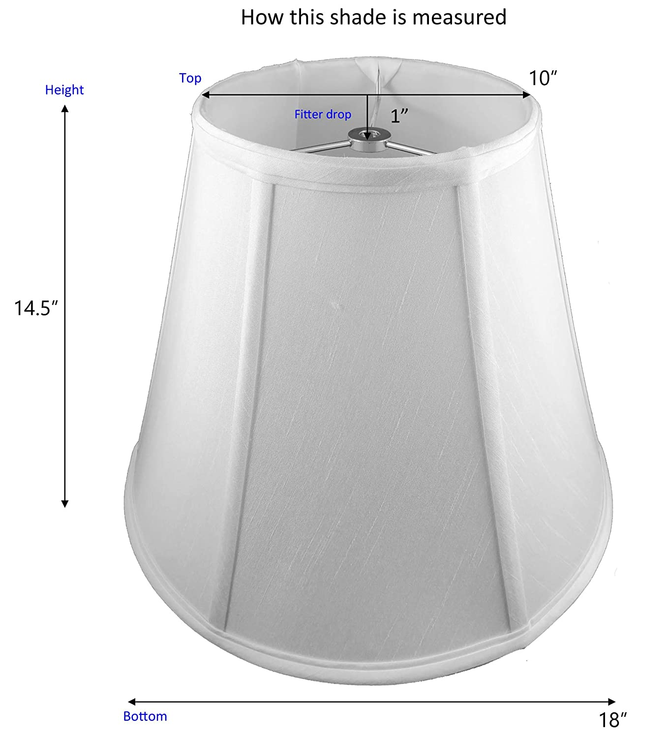 Off-White American Pride Lampshade Co Shantung 19-78090016 Round Soft Tailored Lampshade