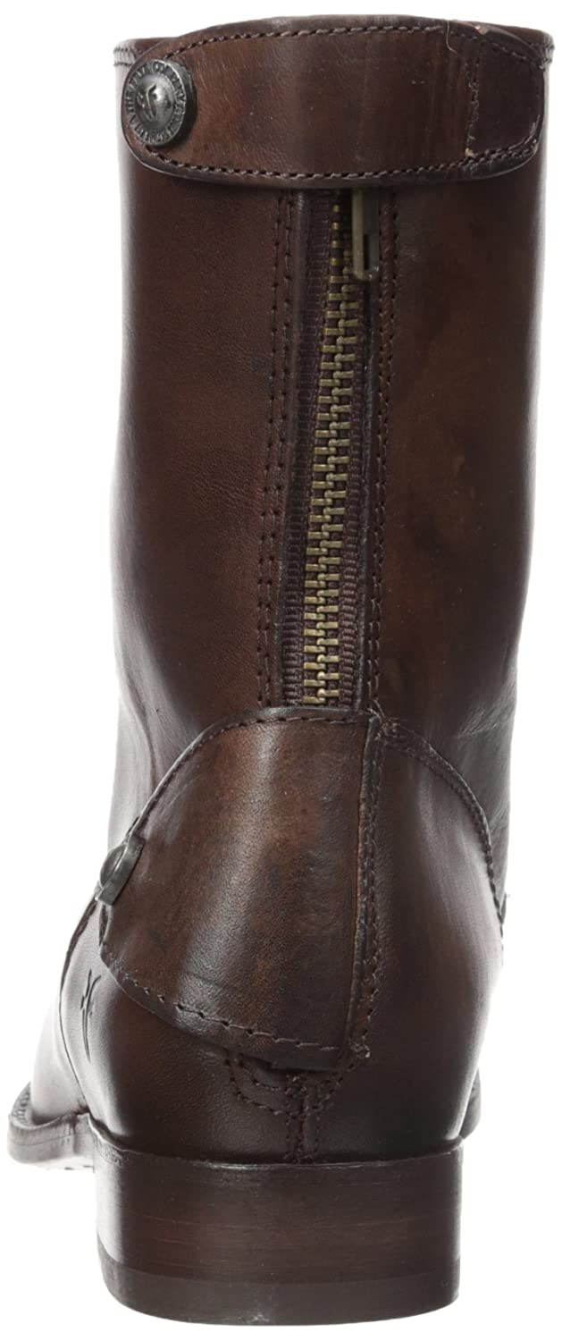 Frye Women's Melissa Button Zip Short B006NZ3N50 7 M M M US|Dark Brown Smooth Vintage Leather add347
