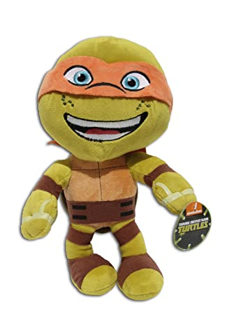 Michelangelo 30cm Super Soft Peluche Pañuelo Naranja Mascara Las Tortugas Ninja Mutantes Adolescentes (TMNT) Turtles Pelicula