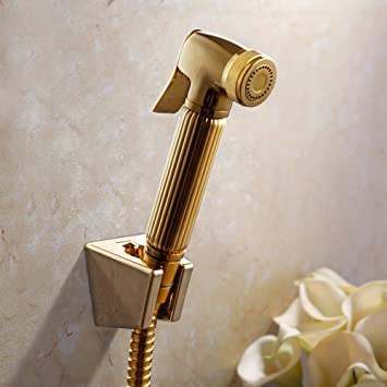 KES BRASS Toilet Handheld Bidet Sprayer with Hose and Bracket Holder Toilet  Attachment Cloth Diaper Sprayer. KES BRASS Toilet Handheld Bidet Sprayer with Hose and Bracket
