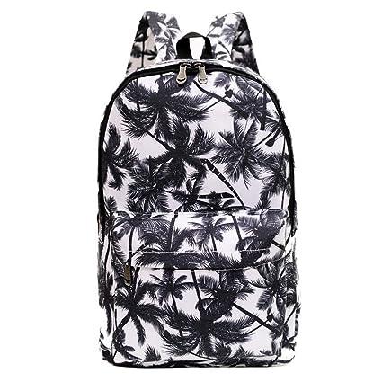 f78109bab4cf Amazon.com  FL Women s Canvas Palm Tree Backpack Travel Bag School Bag  Rucksack Daypack  Toys   Games