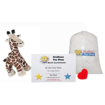 Make Your Own Stuffed Animal Mini 8 Inch Gerry The Giraffe Kit - No Sewing Required!: Toys & Games