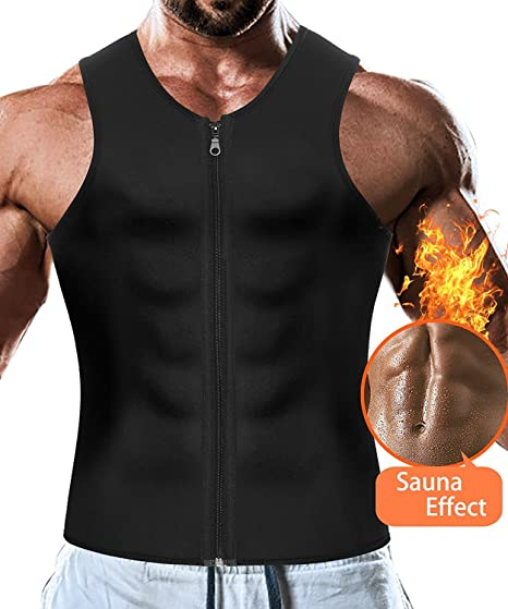 5445aefa247ca Amazon.com  Men Waist Trainer Vest Weightloss Hot Neoprene Corset  Compression Sweat Body Shaper Slimming Sauna Tank Top Workout Shirt   Clothing
