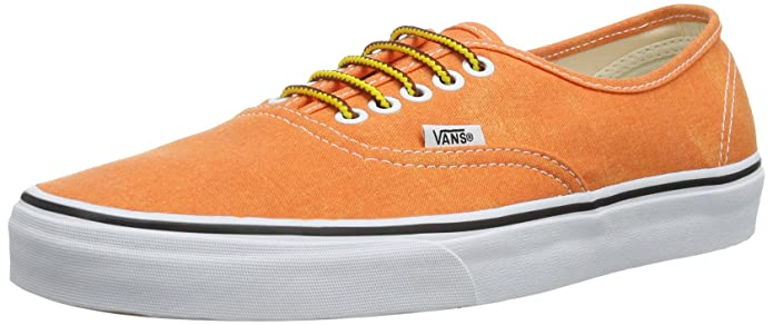 Vans Authentic Sneaker Unisex Erwachsene Orange ((Washed) Vibran)