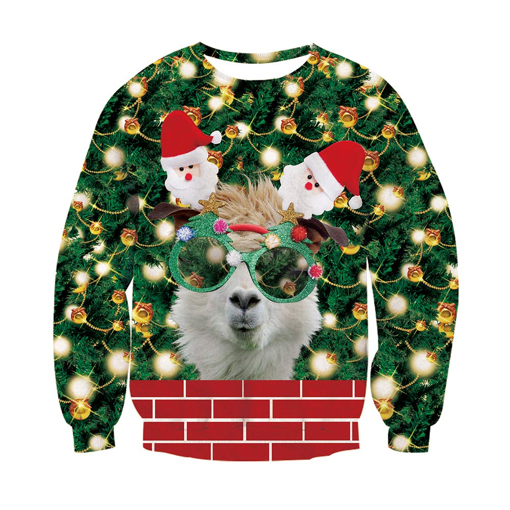 Funnycokid Ugly Christmas Sweater Boys Girls 3D Print Funny