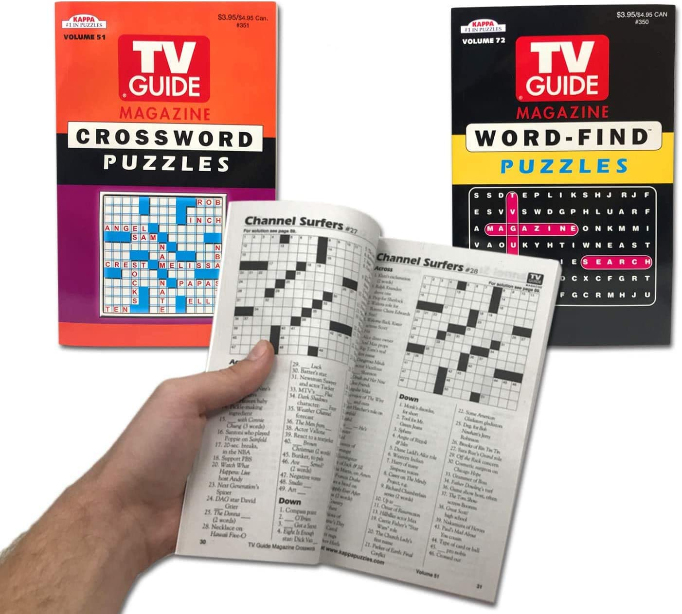 Amazon Com Tv Guide Magazine Crossword Puzzle Word Puzzles Book Word Find Puzzle Book Digest Size For Travel 2 Pack Toys Games