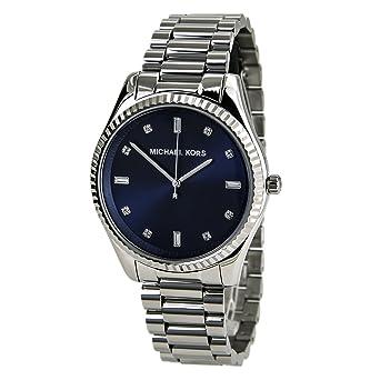 fe889413eef3 Michael Kors Women s Felicity MK3225 Silver Stainless-Steel Quartz Watch  with Blue Dial