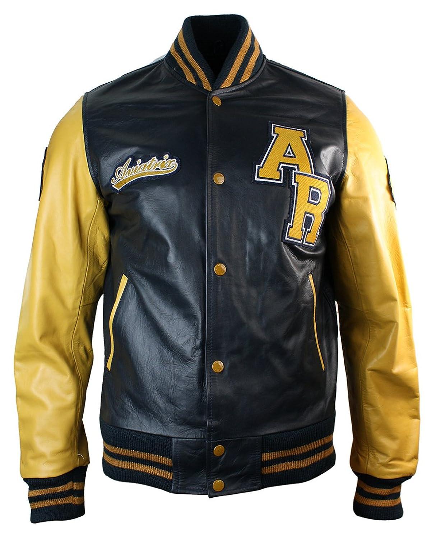 Mens leather varsity jackets
