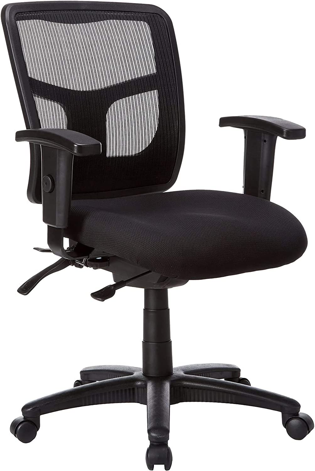 Lorell 86201 Ergomesh Chair, Mesh Back/Black Fabric Seat Limited Edition