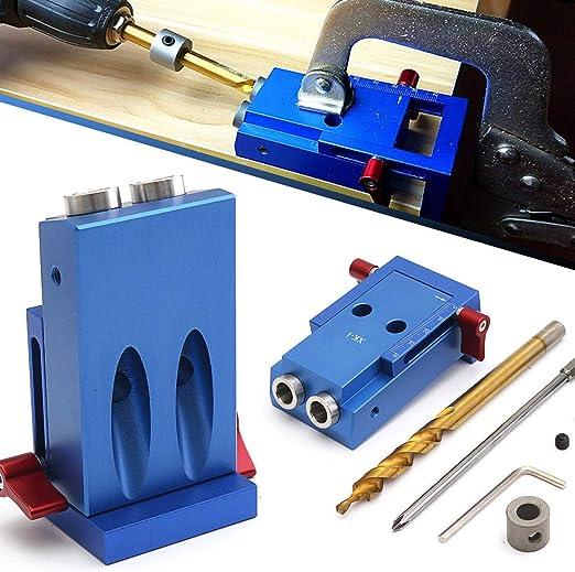 Mini Pocket Hole Jig Screws 9.5mm Step Drill Bit Kit For Kreg Woodworking Tools