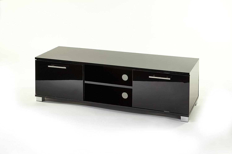Mueble para televisores de entre 32 y 55 pulgadas, con armarios, 120 cm de ancho, negro brillante: Amazon.es: Electrónica