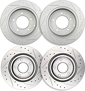 OE Series Rotors + Metallic Pads Fits: 2011 11 2012 12 Chrysler 200 w// 262mm Diameter Rear Rotors Max Brakes Rear Premium Brake Kit TA071042