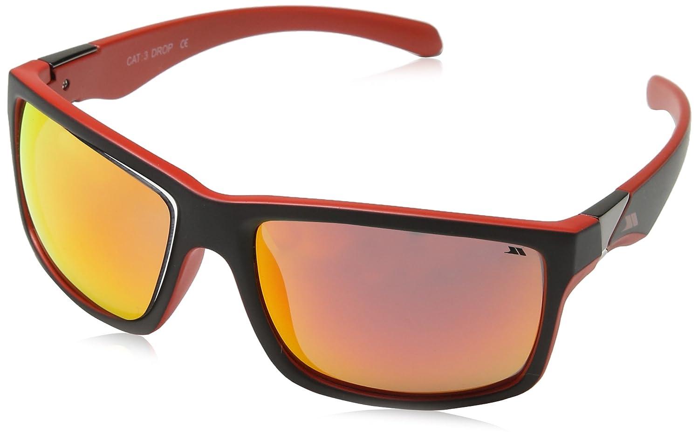 Trespass Drop Gafas de Sol, Unisex, Negro/Rojo