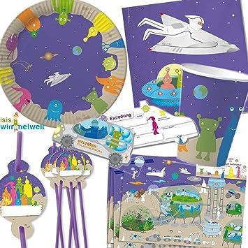 Juego de 90 espacial Fiesta de cumpleaños para niños de 6 ...