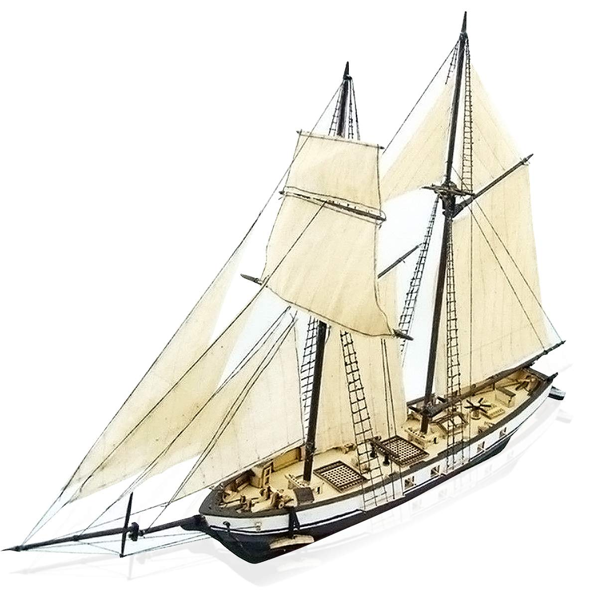 Caveen 1 130 Diy Ship Assembly Model Kits Classical Wooden Sailing Boat Scale Model Decoration 380x130x270mm