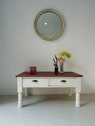 Mesa centro/mesa/mesa salón/mesita/blanco/madera: Amazon.es: Handmade