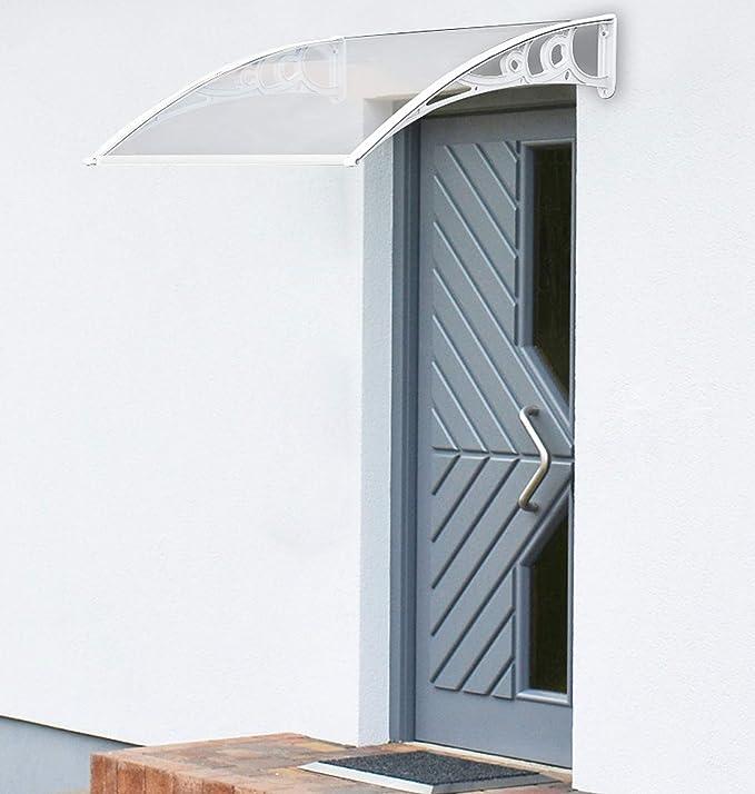 Marquesina para Puerta (120cm x 60cm, Blanco): Amazon.es: Jardín