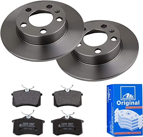 Ate Rear Brake Discs With Pads 230 Mm Full Complete Set For Brakes Change Auto