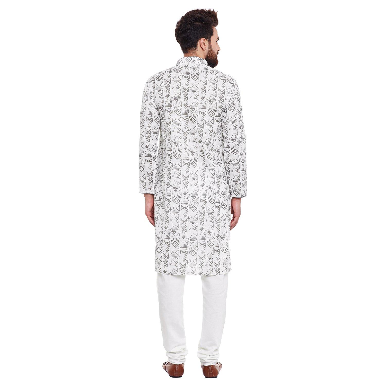 Indian-Traditional-Kurta-Pajama-Set-Shirt-Printed-Men-Kurta-Ethnic-Wear-XS-5XL thumbnail 20