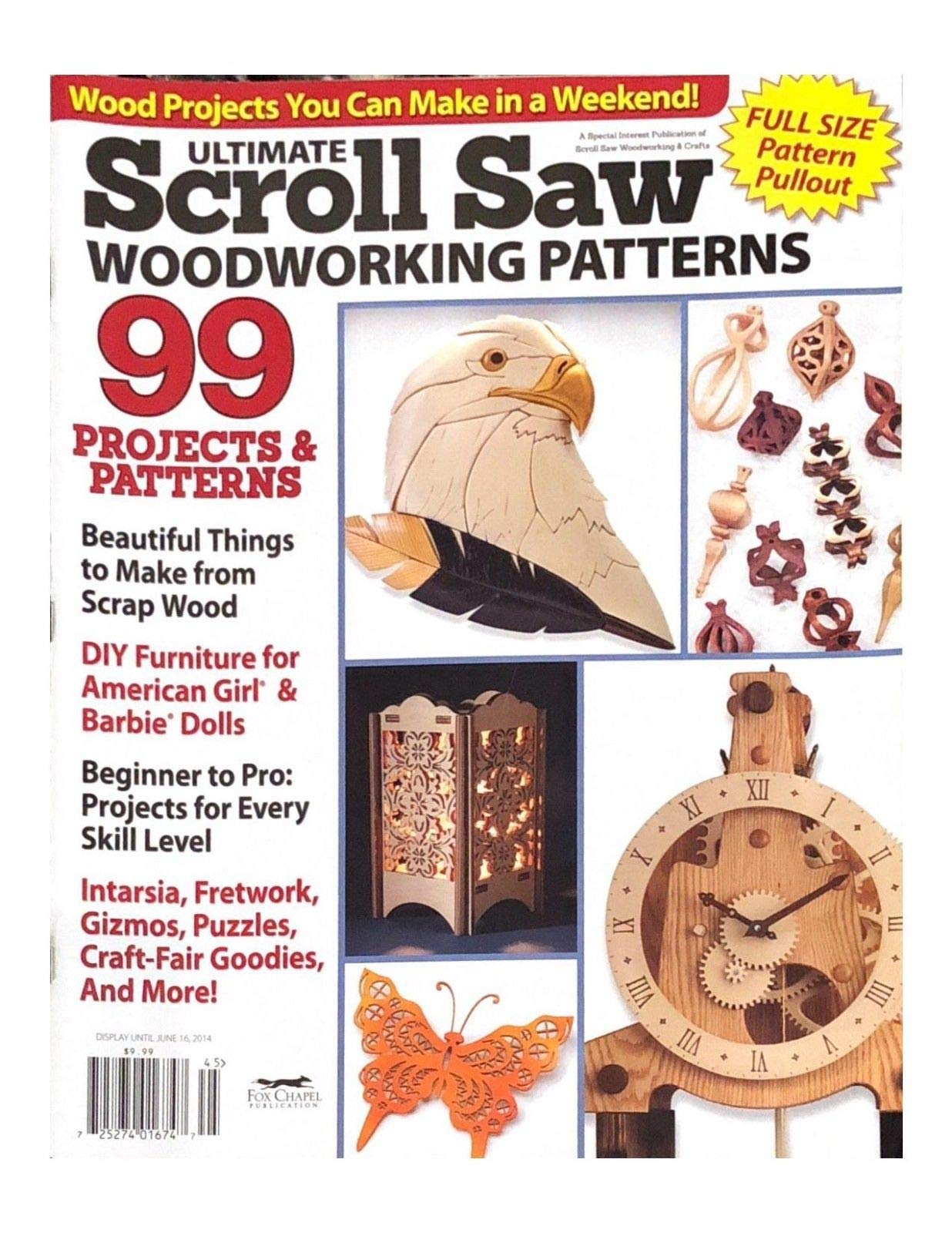 ULTIMATE SCROLL SAW MAGAZINE, WOODWORKING PATTERNS DISPLAY UNTIL JUNE 16, 2014