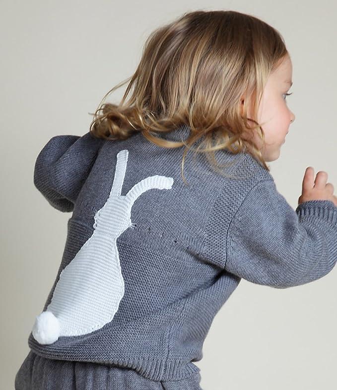 Wennikids Toddler Baby Boy Girl Knit Sweater Cute Bunny Unisex Kid Pullover Sweatshirt