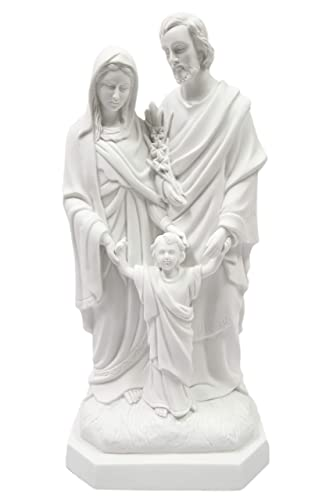 20 Holy Family Joseph Mary Jesus Catholic White Statue Figure By Vittoria Collection Made in Italy