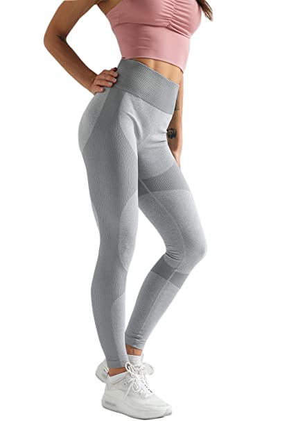 Amazon.com: Leggings de yoga de cintura alta para mujer ...