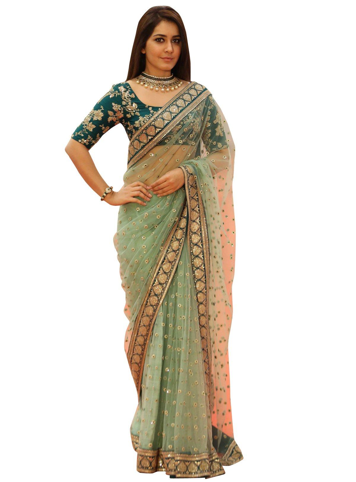 Delisa Fashion Women's Saree Sari Designer Indian Dress Bollywood Ethnic Party by Delisa (Image #1)