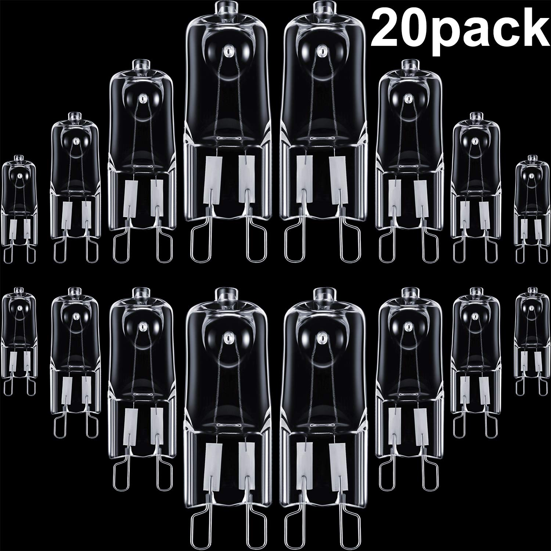 Energy Class C 10 Watt 12 V Signal Lights 20 Pieces G4 Halogen Light Bulbs Clear Capsule Replacement for Cooker Lighting