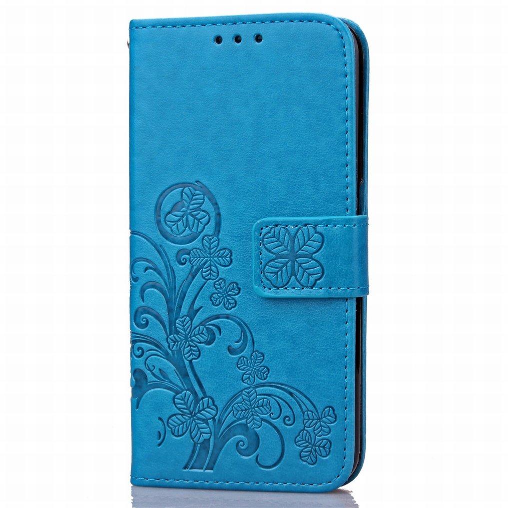 Cover Ougger Custodia per Huawei Honor 5X Honor X5, Huawei GR5 Rosa Arte Foglia Portafoglio PU Pelle Magnetico Morbido Silicone Flip Protettivo Gomma Borsa Custodie con Slot per Schede