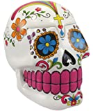 White Sugar Skull Mexican Day of the Dead Trinket Box