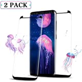 Airror Screen Protector for Galaxy S8 Plus, 2-Pack (Case Friendly), Full Coverage HD Clear [Anti-Bubble] [Anti-Scratch] Touch Agile Tempered Screen Protector Film for Galaxy S8 Plus