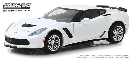 Greenlight 18250 1 24 2019 Chevrolet Corvette Z06 Coupe Arctic White New Tooling Multi
