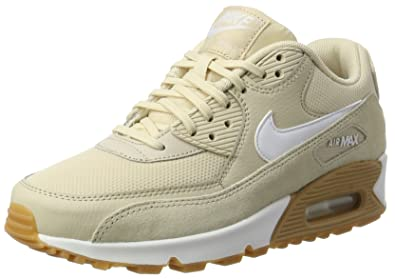 uk availability 3c6d3 7d7f9 Nike Women s Air Max 90 Running Shoe Oatmeal White-Gum Light Brown (6.5