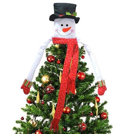 Deggodech Bianca Topper Albero di Natale Grande Cappello Pupazzo di Neve  Hugger Ornamento per Decorazioni Natalizie 6380344d69d0