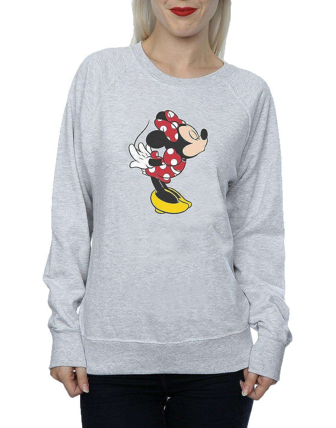 Disney Womens Minnie Mouse Split Kiss Sweatshirt