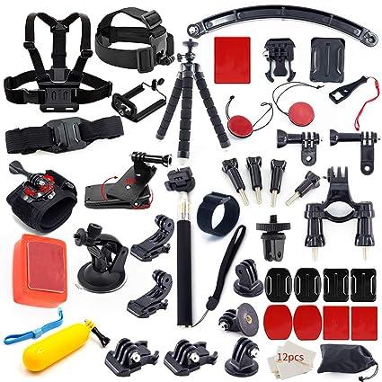249b0bfc902 Action Camera Accessory Kit for Go Pro Hero 7 6 5 4 3+ 3 2 1 Hero Session 5  Black AKASO EK7000 Apeman SJ4000 5000 6000 DBPOWER AKASO Campark with  Selfie ...
