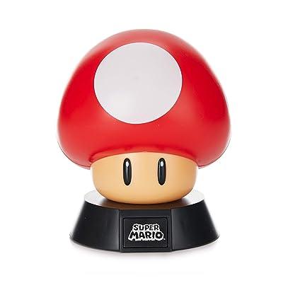 Super Mario Bros. Mushroom 3D Night Light - Decorative Lamp Collectible: Home Improvement