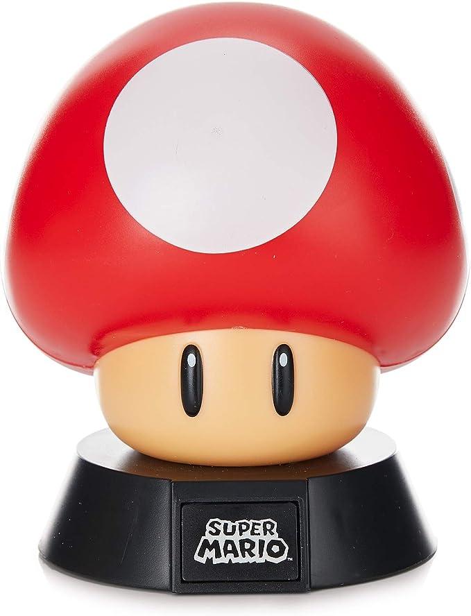 Super Mario Lámpara Mushroom, Multicolor: Amazon.es: Iluminación