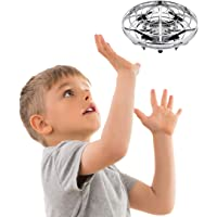 Hand Operated Drones for Kids or Adults - Scoot Hands Free Mini Drone Helicopter, Easy Indoor Small Orb Flying Ball Drone Toys for Boys or Girls (Silver)